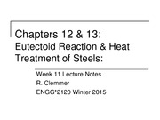 2120 - Week 11 - Ch9-11 - Heat Treatment of Steels