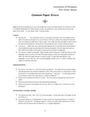 Common Paper Errors