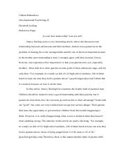 Reflection Paper Dev Psych II.docx