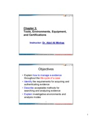 CIS 483  FIR -Ch03-Tools Environments Equipment and Certifications-ForStudents