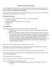 Article summary and critique worksheet and paper-1.doc