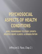 Psychosocial & Functional Aspects of Health Conditions 2(2)(1)