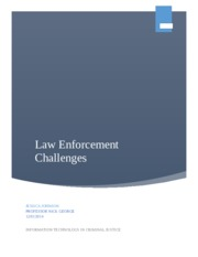 Law Enforcement Challenges