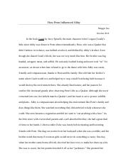How Penn Influenced Abby Essay.docx