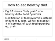 How to eat helathy diet