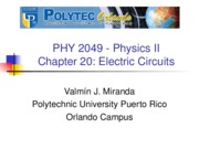Physics Electircal Chapter 20