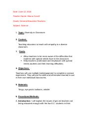 Formal Lesson Plan (Inquiry Project)