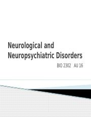 BIO 2302_Neurological Disorders_STUDENT version_AU16