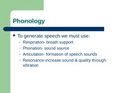 Phonology terms