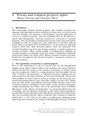 [Encyclopedia of Law and Economics] Private and common property rights.pdf