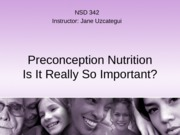 W2 Preconception Nutrition F14 Students