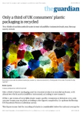 Only a third of UK consumers' plastic packaging is recycled | Environment | The Guardian