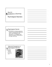 psychologicaldisorders