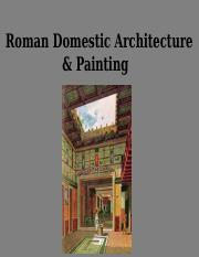 12 Roman Domestic architectur and painting - CP brief