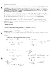 Cal 1 Infinite Sequences