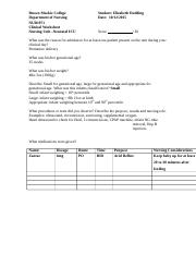 NICU Worksheet