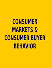 7 Consumer Market & Buyer Behavior.ppt