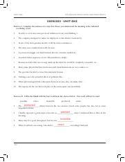 Unit 1 Vocabulary Exercises.pdf - Vocabulary From Latin and ...