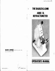 Bausch & Lomb Abbe-3L Refractometer Cat No 33-46-10 Operator's Manual First Edition 1976.pdf