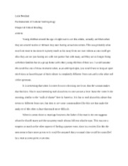 Weiner Ch. 4 Critical Reading