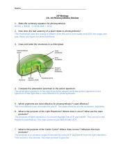 PhotosynthesisReview
