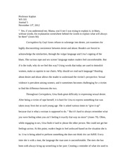 final essay women oppression magrosky females coming together 4 pages journal 5 corregidora