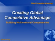 Global Competitive Advantage
