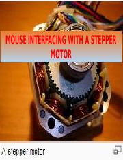Interfacing of a stepper motor to a microprocessor