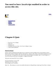 Chapter 8 Quiz: BAD52: Human Relations in Organizations: Section 2293: Olmos B.html