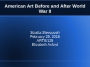 american art before and after world war ii