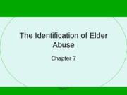 (7) Identification of Elder Abuse