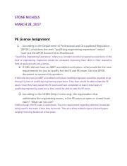PE License Assignment(1).docx