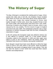 The History of Sugar.docx