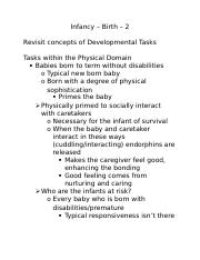Infancy and Infant Attachment-Lecture Outline-2