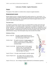 2. Angular Kinematics Worksheet