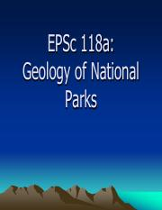 Class 1 - Intro Geology of National Parks