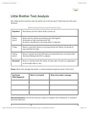 Little Brother Text Analysis
