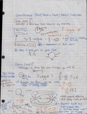 gravitational fields and electric fields notes