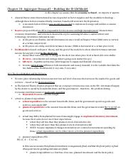 ECON 2000 - Chapter 10 Notes