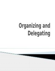 7 - Organizing and Delegating.pptx