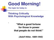 Thinking Critically TR and notes_1