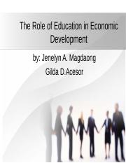 The Role of Education in Economic Development