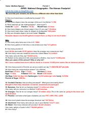 Human Footprint WS.pdf - Name Matthew Nguyen Period 1 APES ...