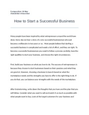 How to Start a Successful Business