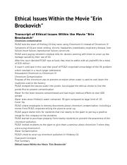 erin brockovich movie reaction paper