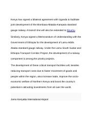 Kenya has signed a bilateral agreement with Uganda to facilitate joint development of the Mombasa.do