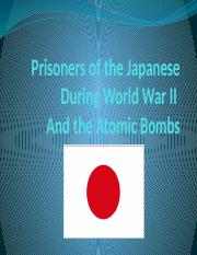 japanesepows and atomic bombs