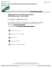 Applying the TOC thinking process in manufacturing A case study.pdf