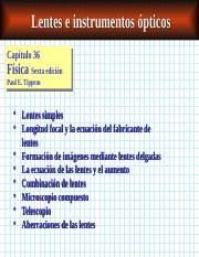 843190ae1b CH36-e - Lentes e instrumentos pticos Captulo Captulo36 36 Fsica ...