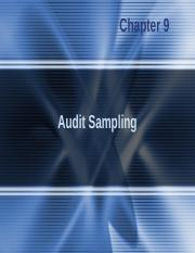Principle of Auditing -chap009.ppt
